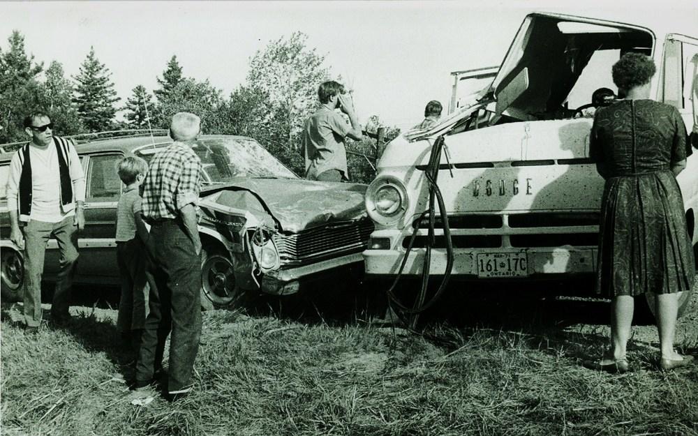 Accident involving Glovers' IGA van