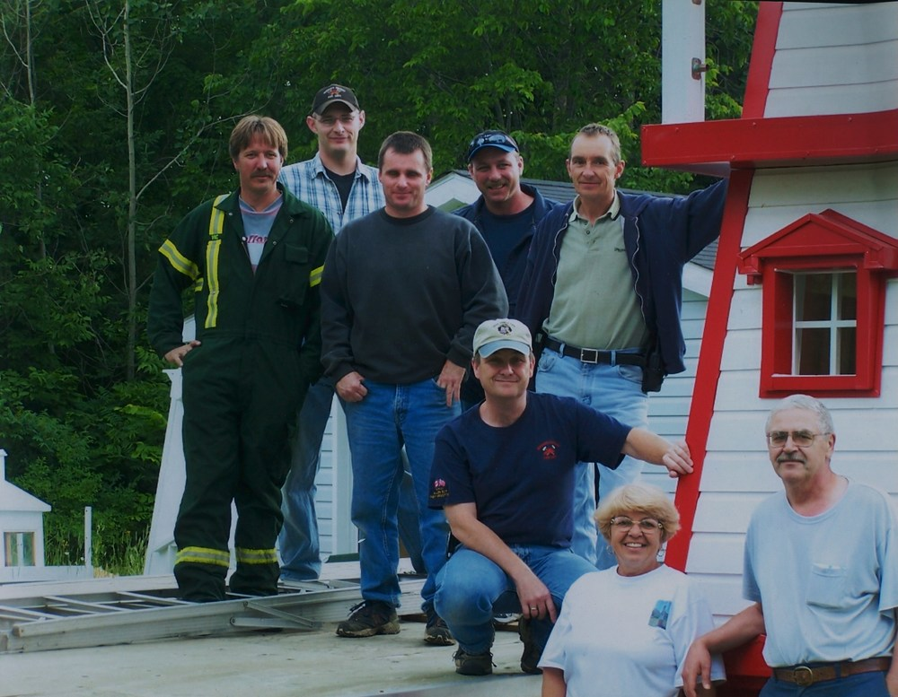 Marmora Fire Department moving the lighthouseJeff Bonter,  Randy Vilneff,  Tony Bronson.jpg