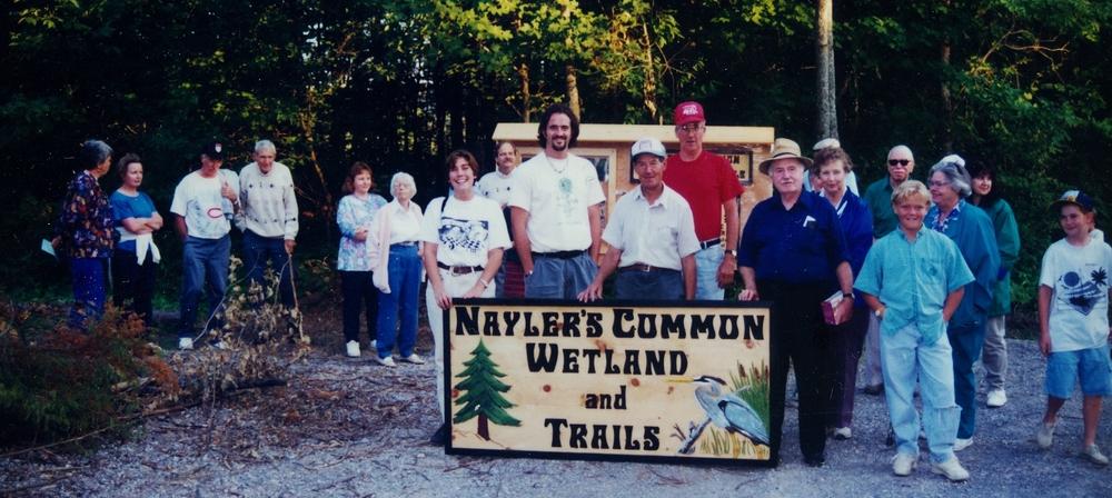 Nayler's Common Grand opening, Bridget Stevens, Guy Follen, Joe Hulsmans, Clarence Logan (sign maker)