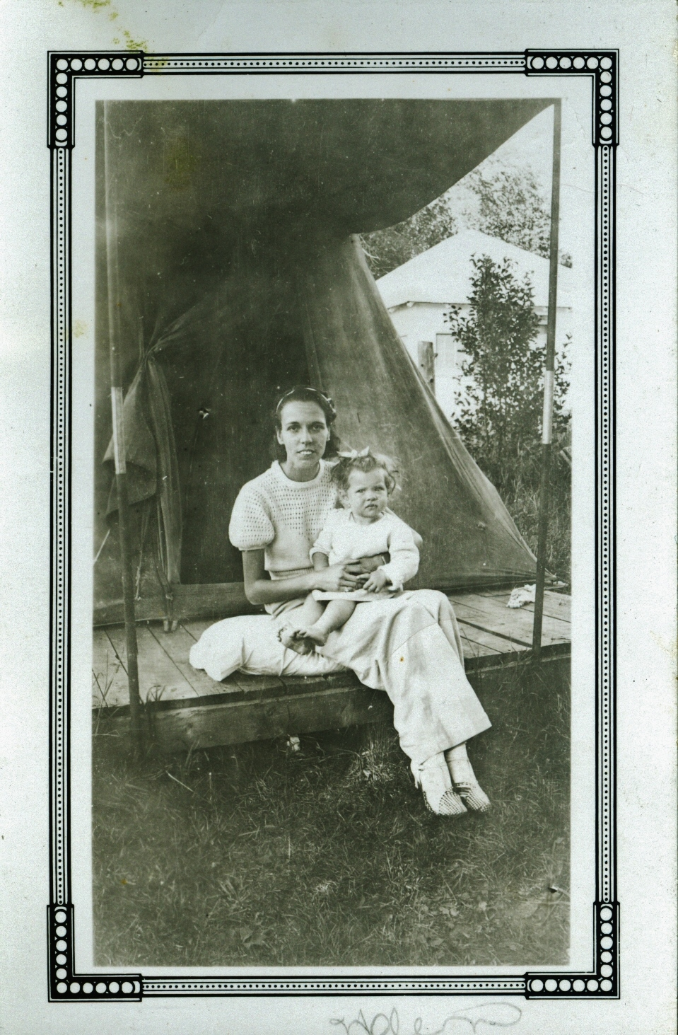 Helen Gaffney (Jones)  and Sheilagh H. Corrigan,  circa 1934  (Sheilagh was born in 1933