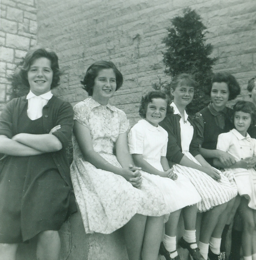 Sacred Heart School girls,  Cathie Jones, Gail Bertrand, unknown,   Janet Crawford,  Ann VanVolkenburg, Jill Bertrand