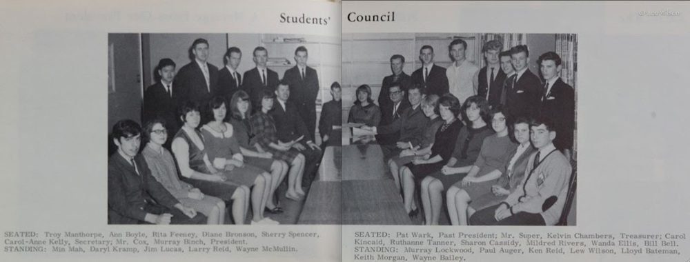 CHSS student council 1968 Lou Wilson with tie.jpg