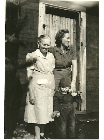 Della Plane Wilson, Mother, and Carol Wilson 1945