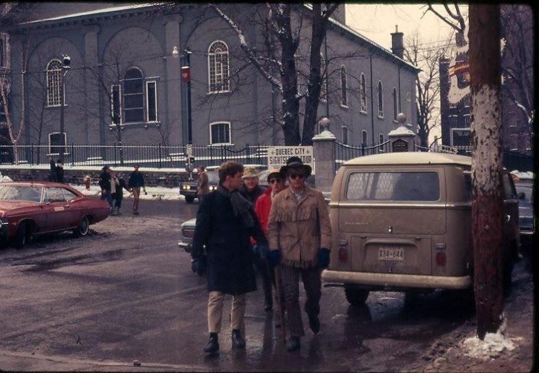 John Bedore, Jim Nickle, Rat Rob Robson, Bob McCaffrey, Que. City 1970