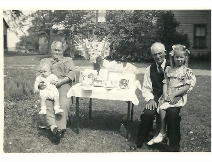 Nellie, & red Sheimshaw, .Carol & Lou Wilson 1948