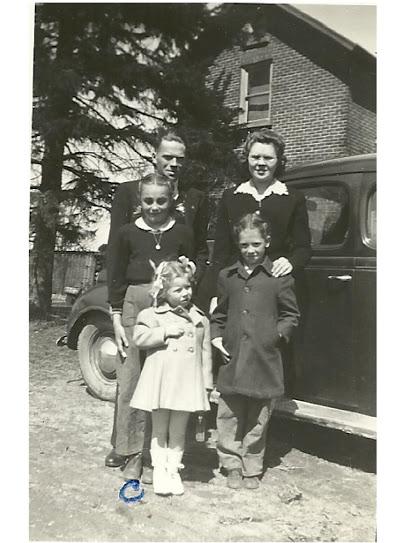 Roy, Ruth Plane, Myrna Ann Plane .Helen Conene Caro lWilson1946