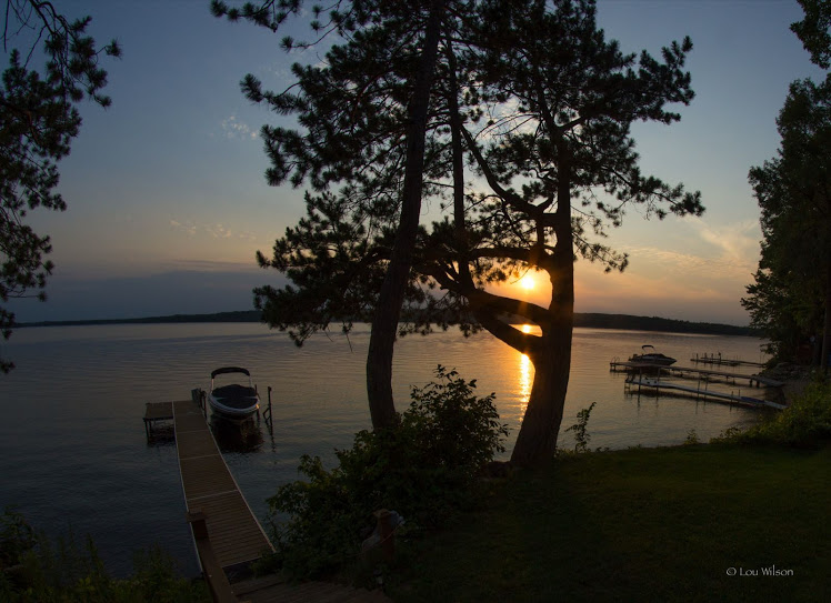 View of Crowe Lake from Tm O'Neill's cottage, Marble Point