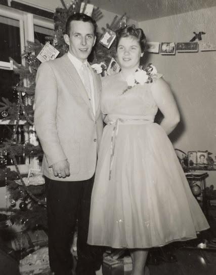 Don McKinnon and Carol (17 years of age) Maarmora Ontario Canada c.1950