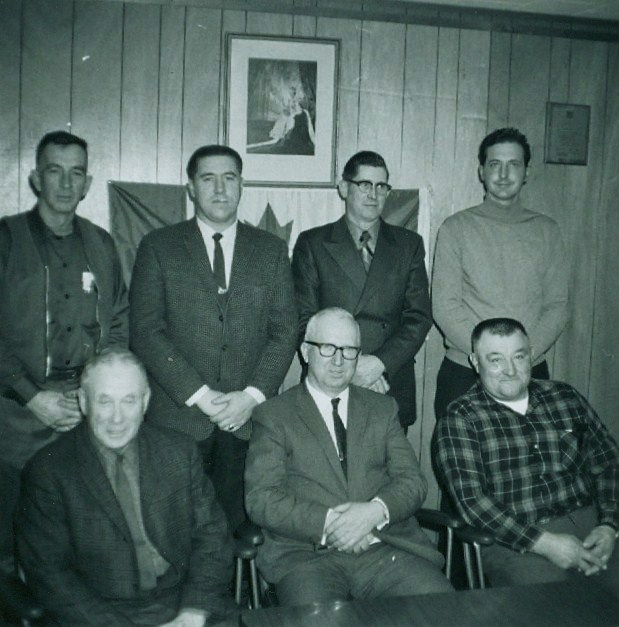Council Twp.l,  Ab Leonard, Scotty Cook , Pat Bertrand, Bob Drummond, John Wilkes, Buck Jones