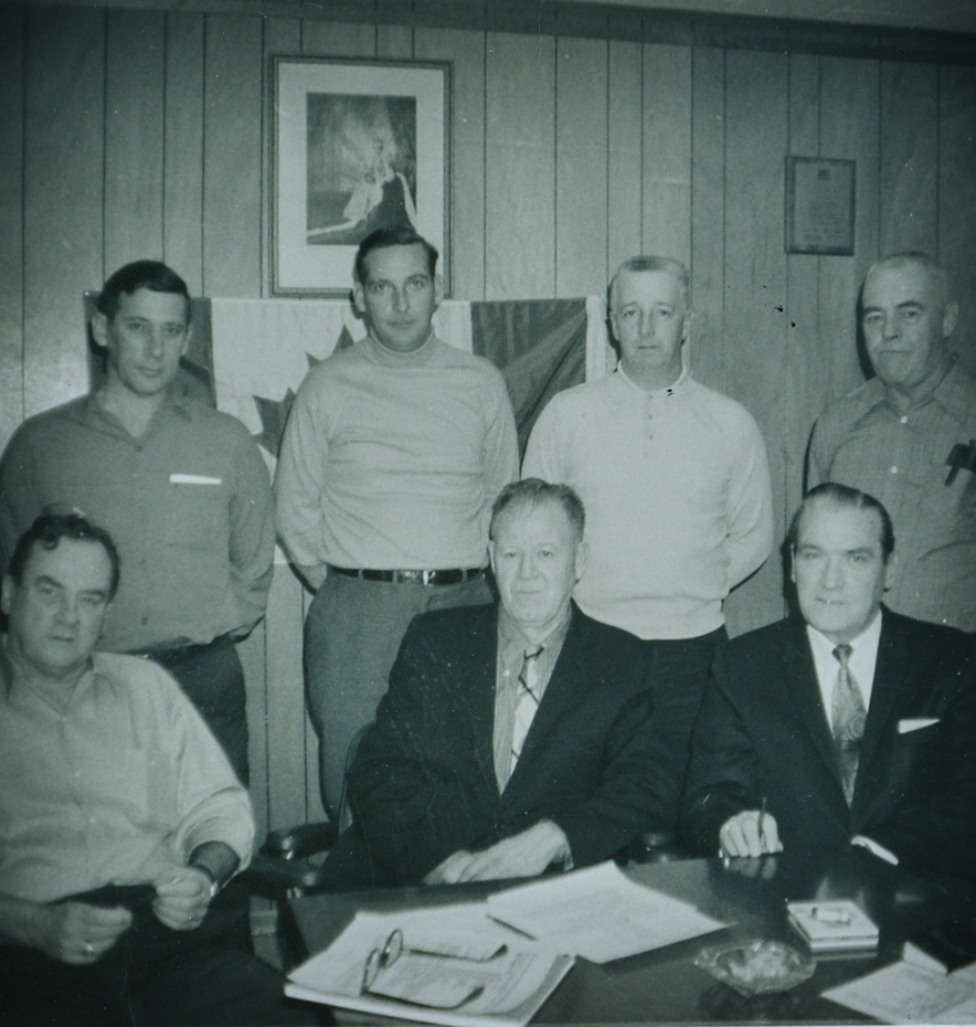 Marmora Village Council,  ken (stub) Trumble,  grantAirhart,  bert Gray, Bishop, bill Monk, jack Reynolds, wm Shannon