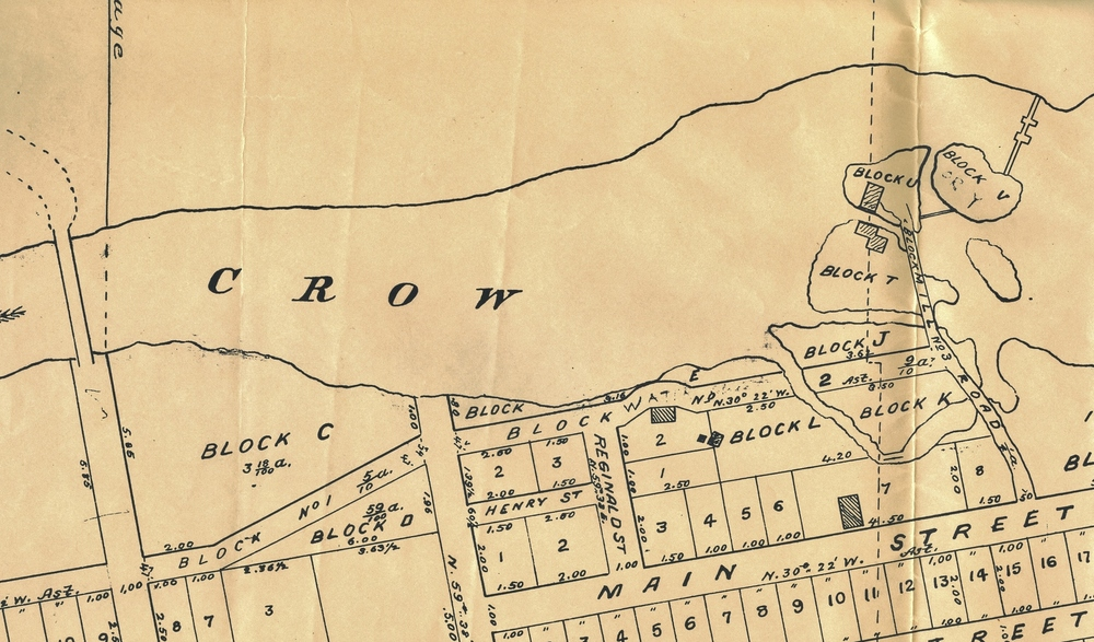Plan 307 dated sept 31 (not Sept30) 1901 - Note position of dam
