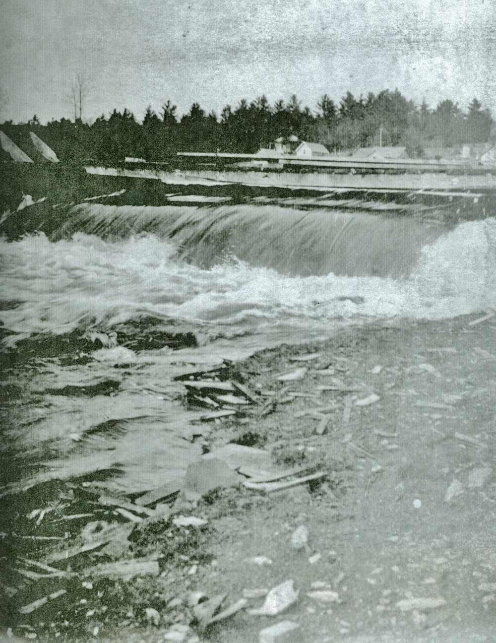 Old position of dam