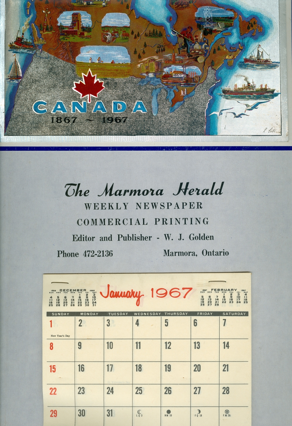 Marmora Business,  Marmora Herald,  1967.jpg