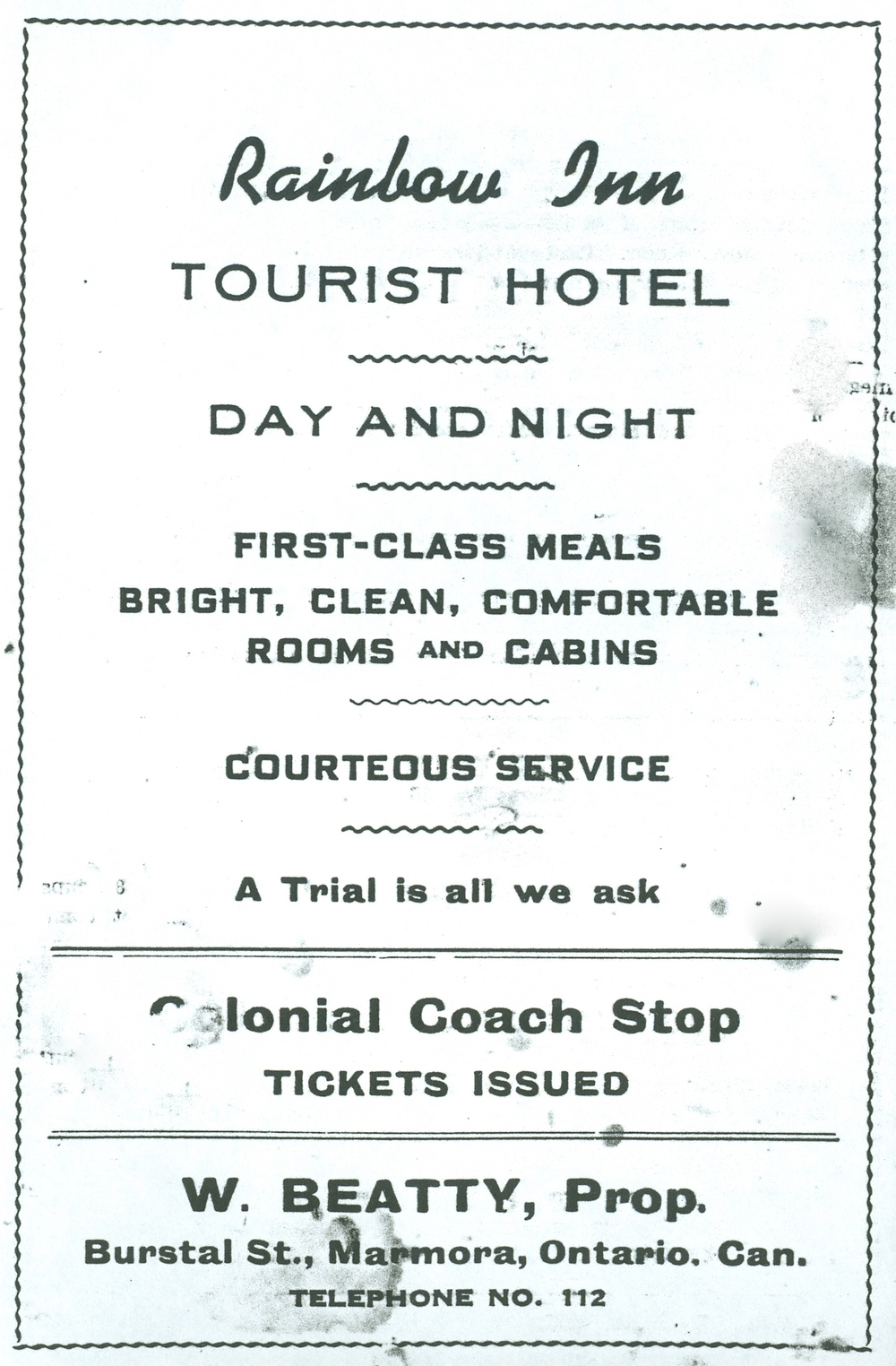 Rainbow Inn,  W. Beatty,  Bursthall St..jpg