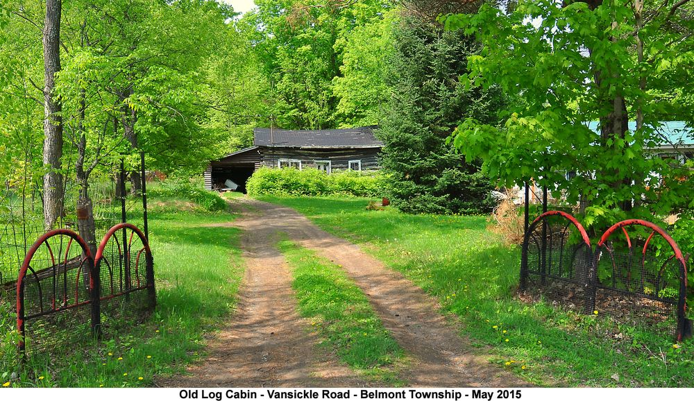 This old log house is located at 1007 Vansickle Road in Belmont Township. It belonged to Percy Ellis back in the 1950's and 60's.