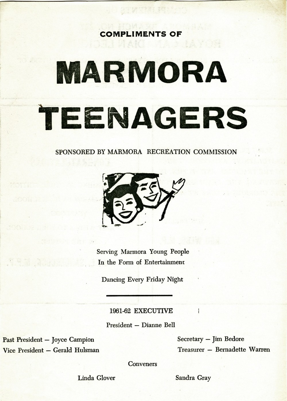 Poster,  Recreation Committee 1961-1962.jpg