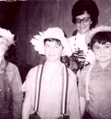 Barb Reynolds, Perry Provost & Paul Bicknell in school play