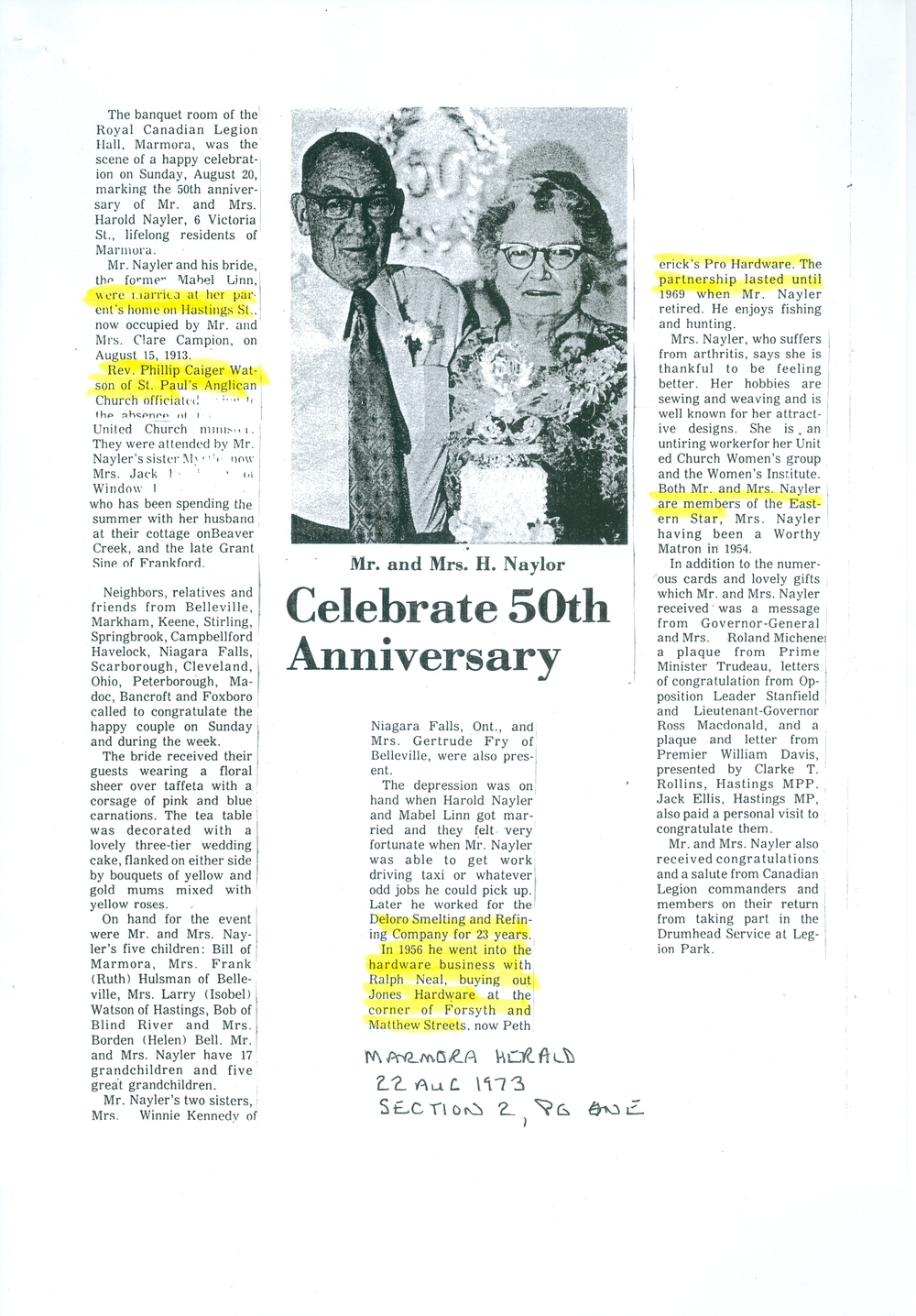 Nayler, Harold and Mabel Linn, 50th anniversary,  1973.jpg