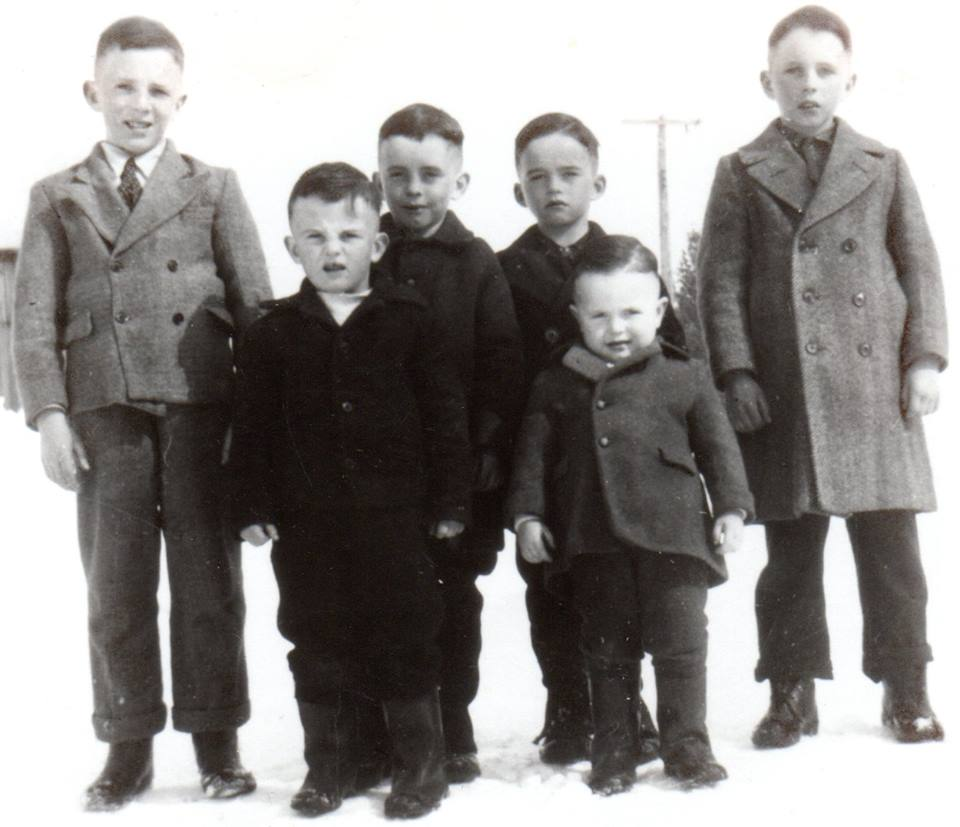 Wilma Bush's six brother sBob, Jack, Jim, Don McKinnon & front row Charlie & Martin McKinnon -