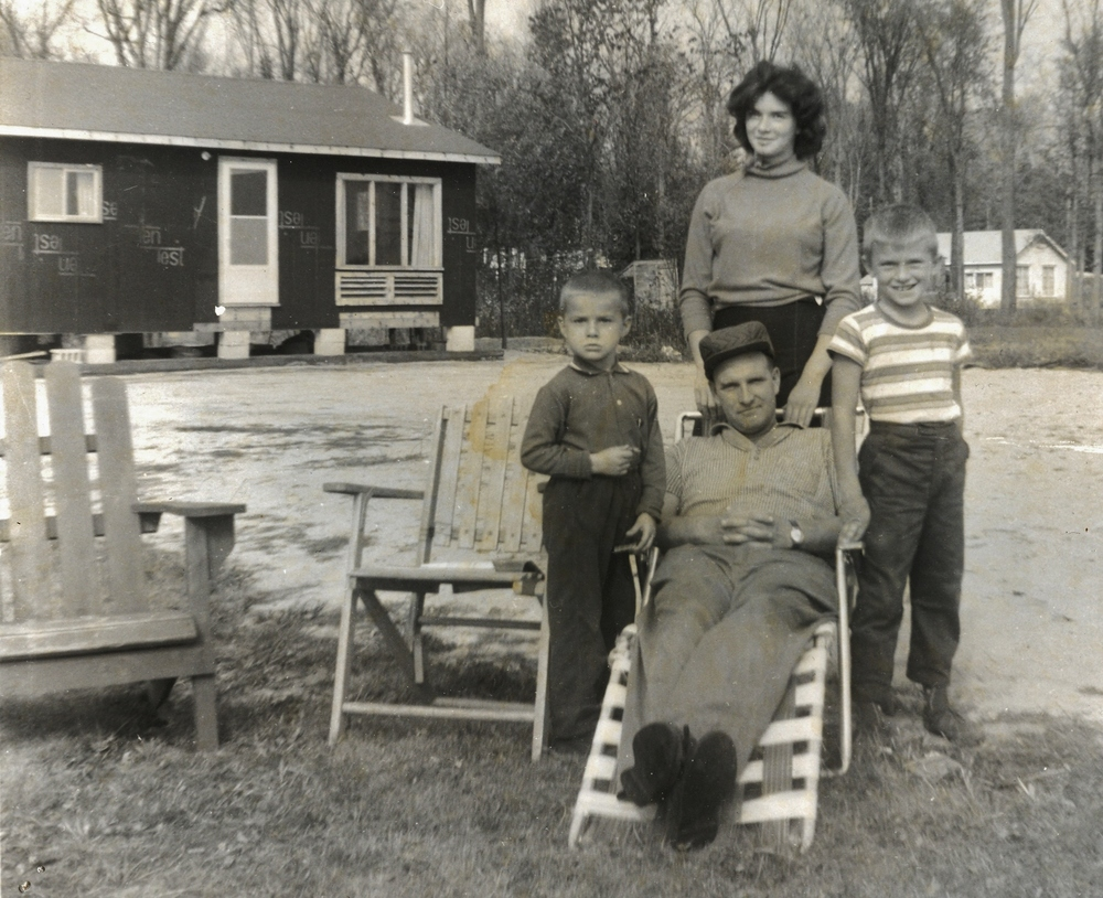 1965 - Tim, Janice, Don & Ray Black at cottage,  Peepy Horn Road, Crowe Lake
