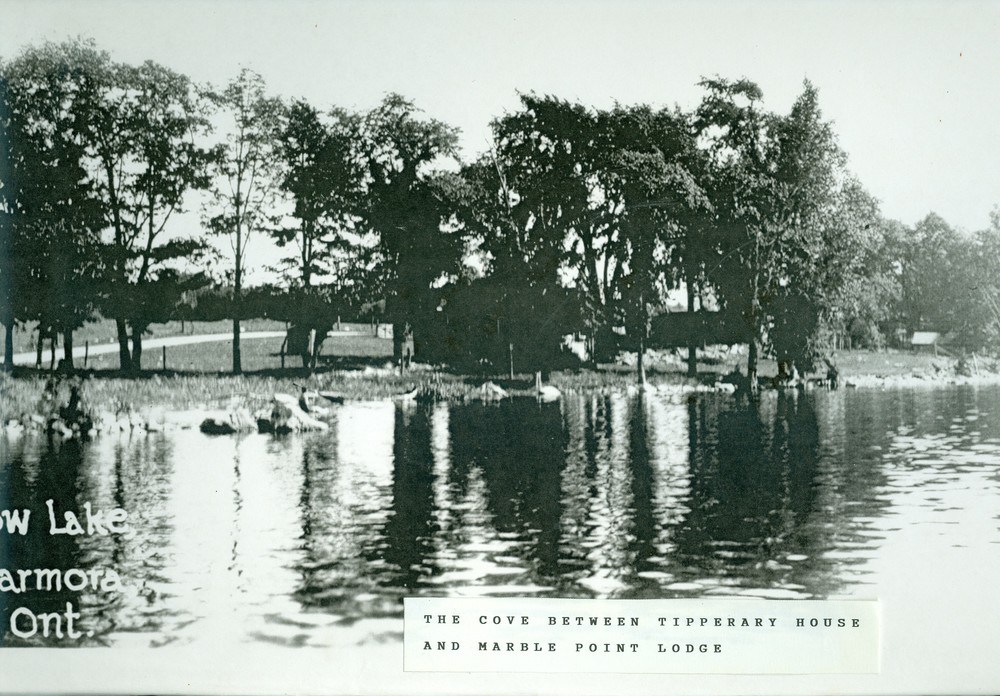 Crowe Lake,  Marble Point Rd.,  Cove near Backus-Campbell cottages