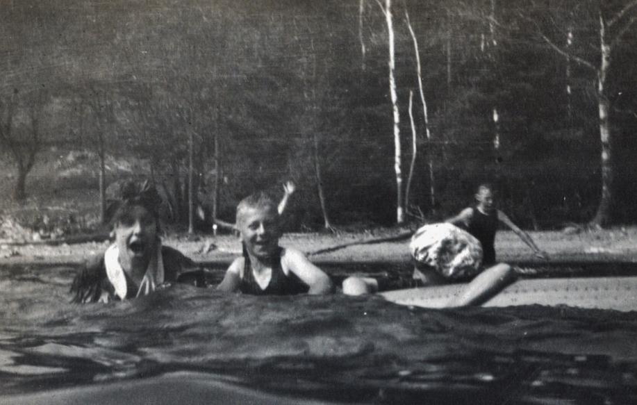 Crowe Lake, Florence, Bob Parker, possible L. Dunlay, Harold Parker