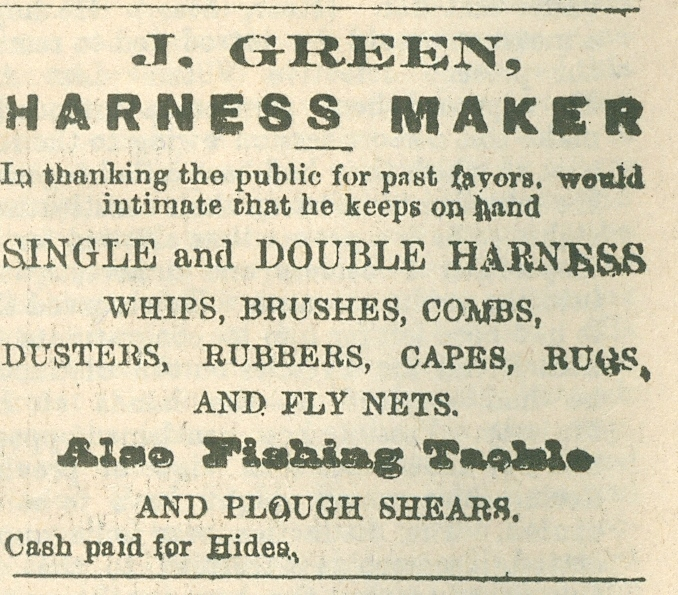 J. Green, Harness maker.jpg