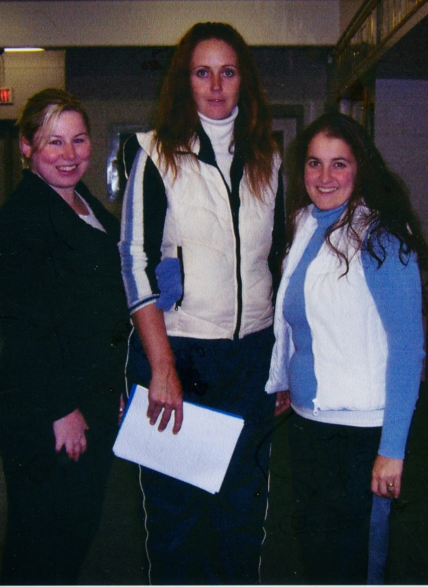 2008 coaches, Lindsay Myers, Melanie Barker, Leanne Rosborough