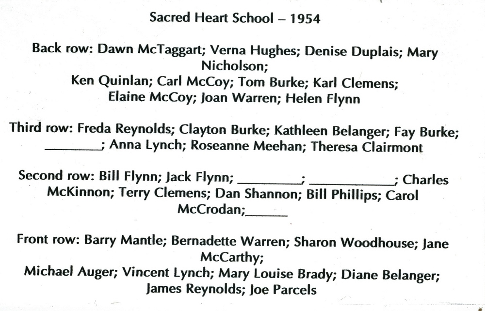 1954 Sacred Heart School with names.jpg