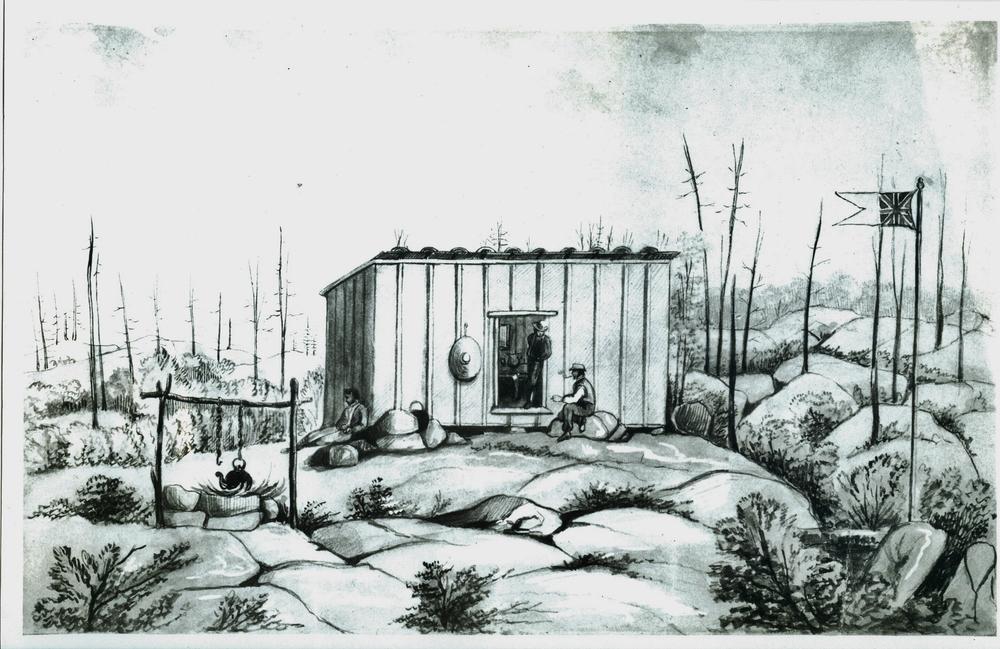 Susanna Moodie sketch of Marmora Mine