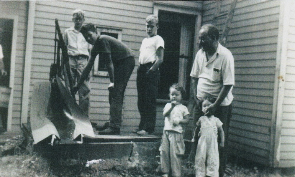 Jack Morse, John Deweise, Teddy Deweise, David Andrews, Joe Murray with Kate & Cecilia Murray,  1955