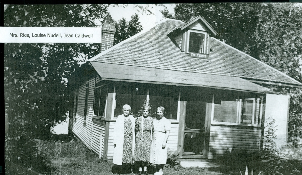 Mrs. Rice, Louise Nudell, Jean Caldwell,  Crowe Lake