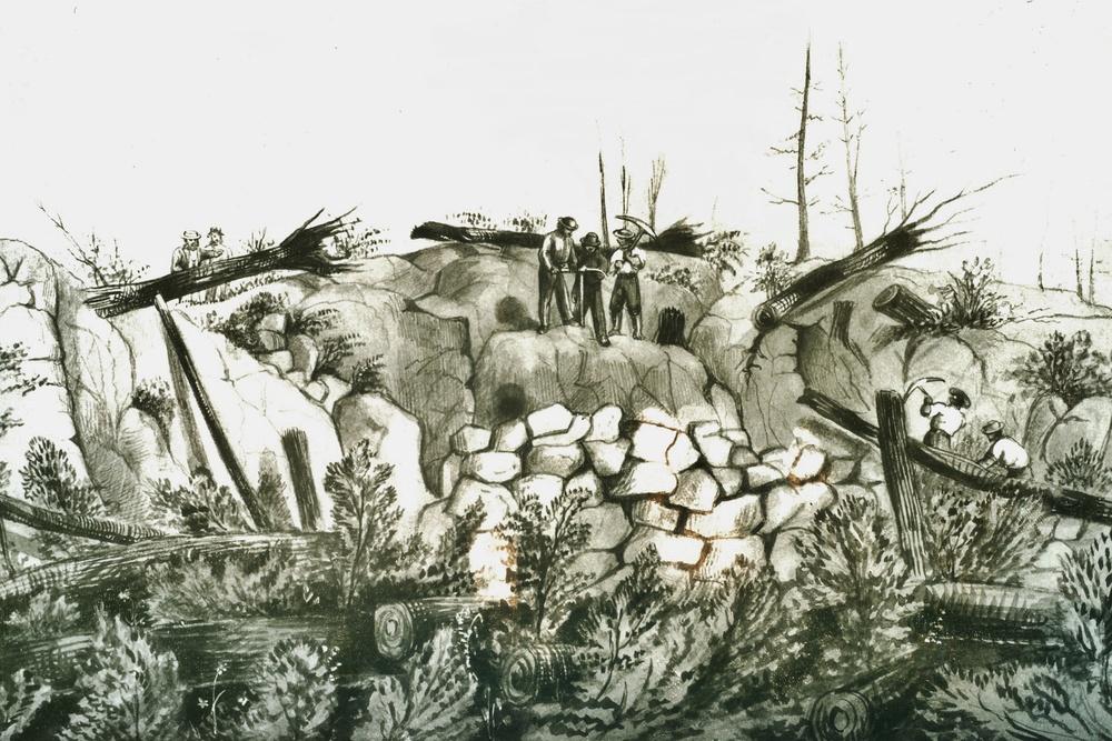 Sketch by Susanna Moodie - Marmora Mine