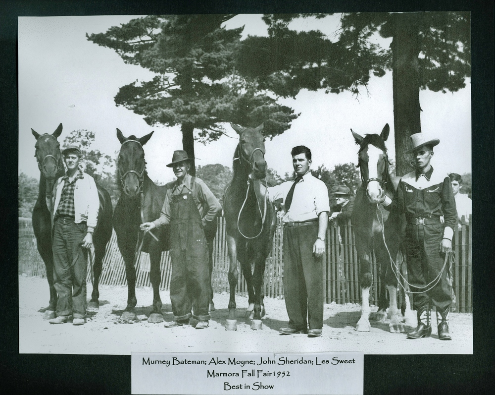 Marmora Fair 1952 Best in the Show, Murney Bateman,  Alex Moyne, John Sheridan, Les Sweet.jpg