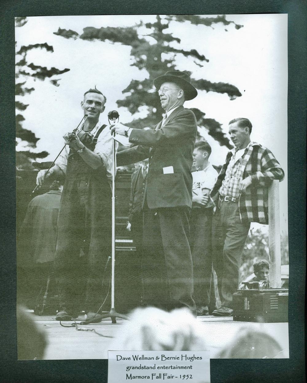Marmora Fair 1952 Dave Wellman,  Bernie Hughes.jpg