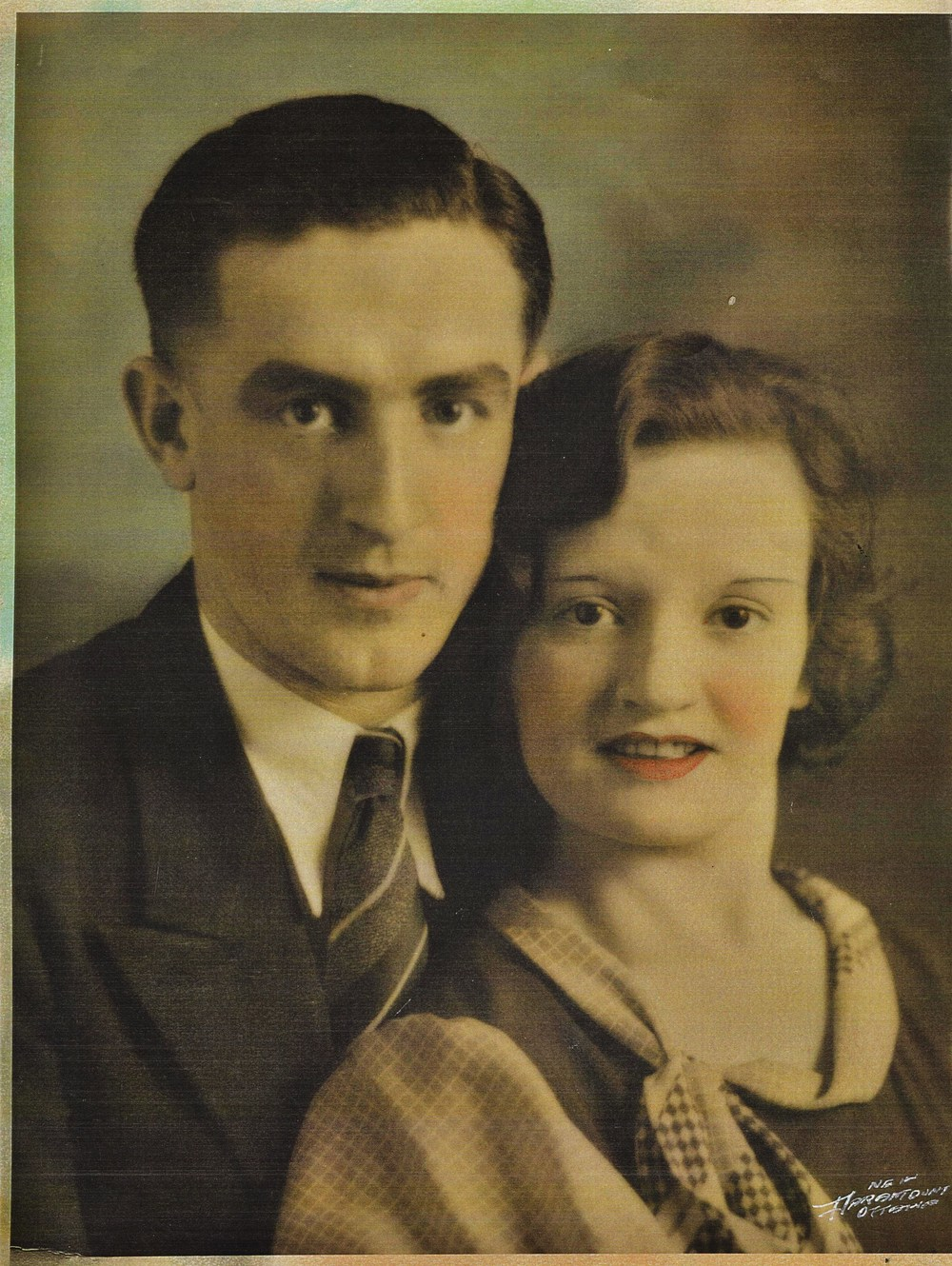 Projectionist George Mantle with wife Ivy