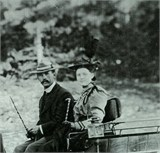 Bessie Bramley Pearce with Stanely Pearce