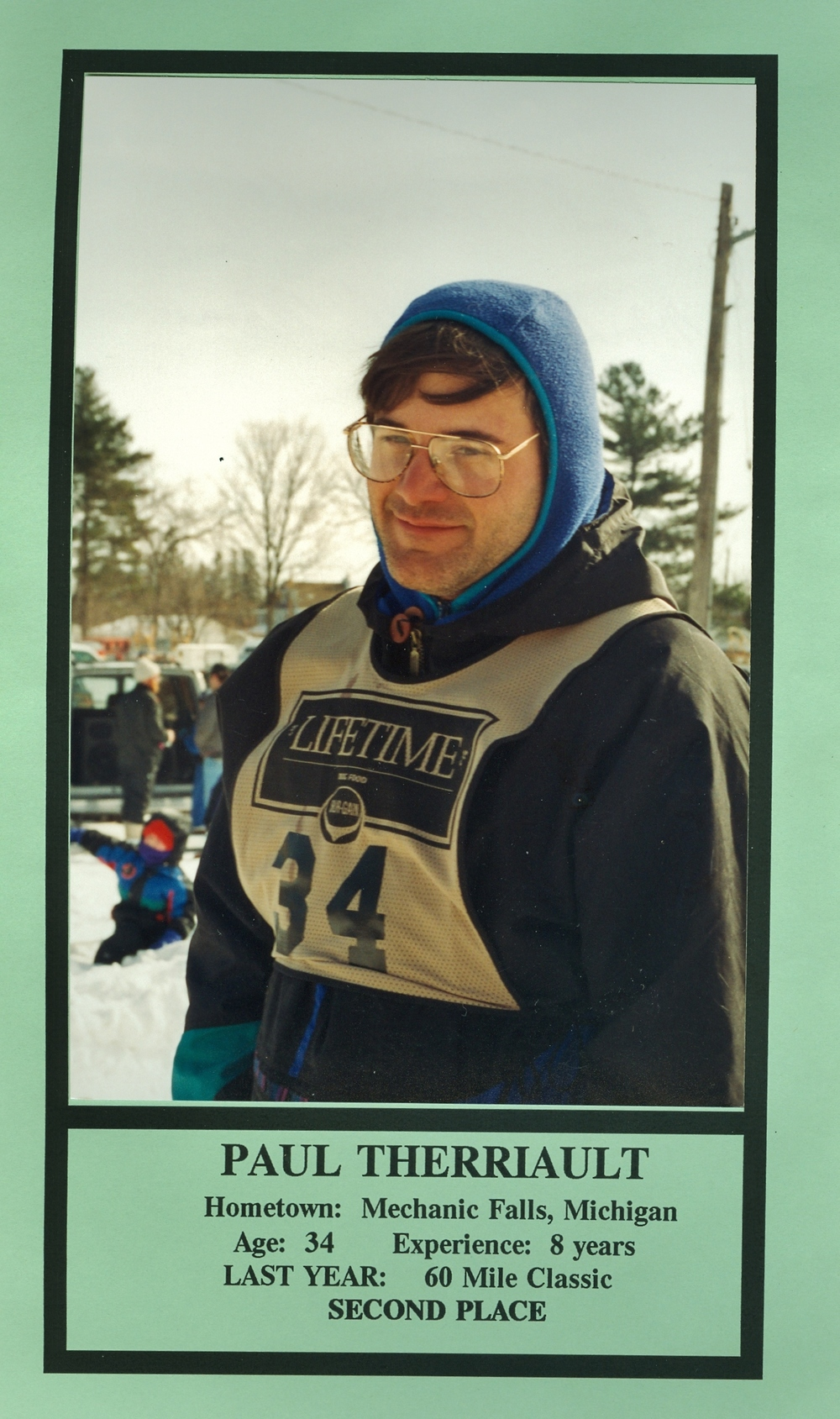 Snofest 1994 Paul Therriault, Mechanic Falls, Michigan, 2nd place 60 mile.jpg