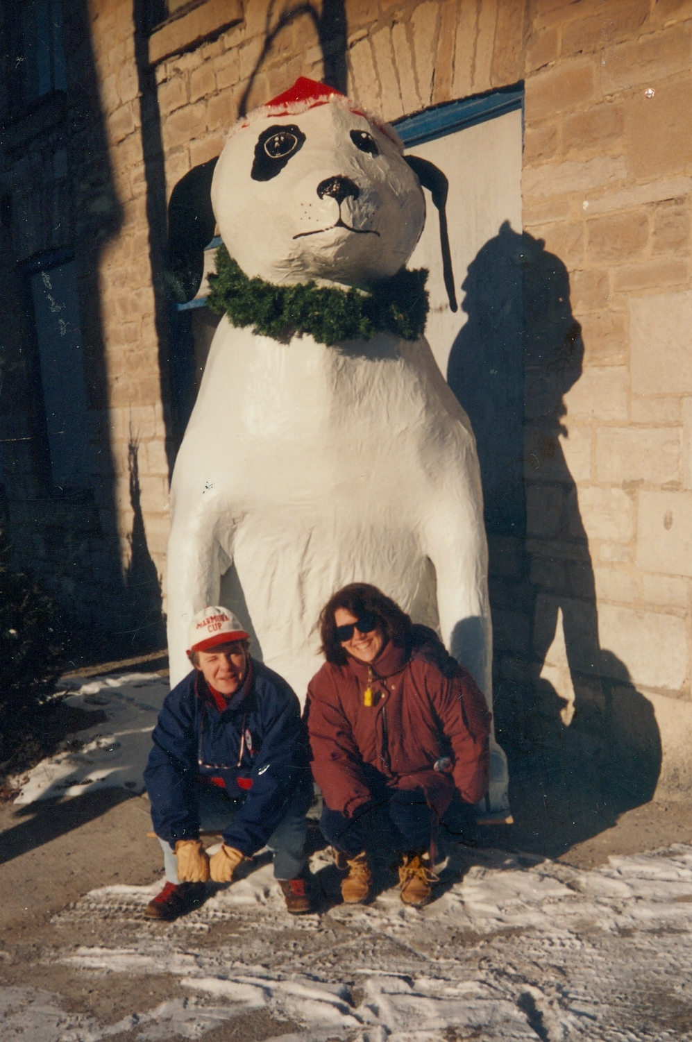 Cathie Jones & Anne Philpot with Snofest Mascot