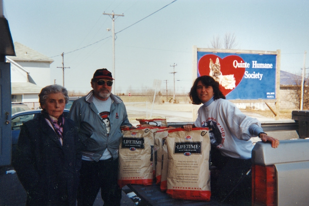 Donation of left over dog food to humane society - Norm Bradley and Anne Philpot