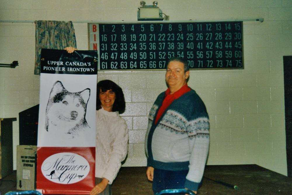 Snofest 1996 New banners - Anne Philpot, Brett.jpg