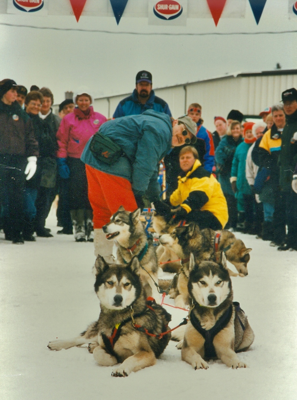 Snofest 1997 Derry O'Byrne,  Ronald Francis (Sleeman's rep) in yellow,  Al Moorcroft at rear