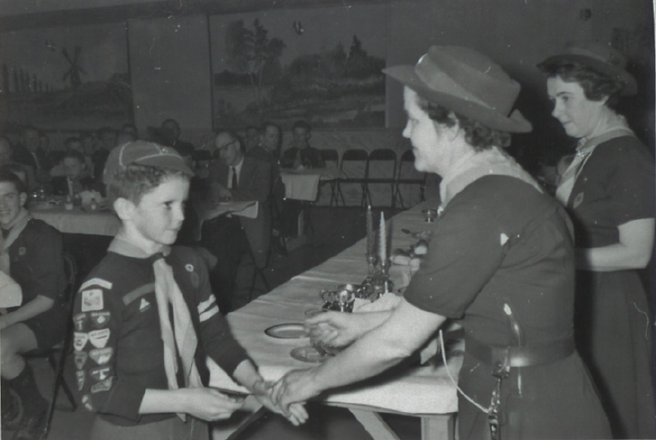 1963 Handing our badges, Doris Vanvolkenburg and Lucille Bedore