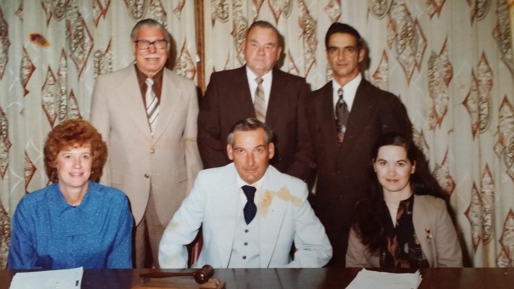 Marmora Council - jack Grant, Bill, Monk, stew Fisher, jean Hanley, grant Airhart, Carol Church, clerk-treasurer