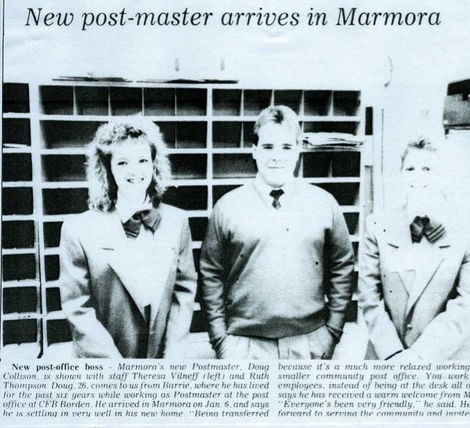 Marmora Herald, January 16, 1991