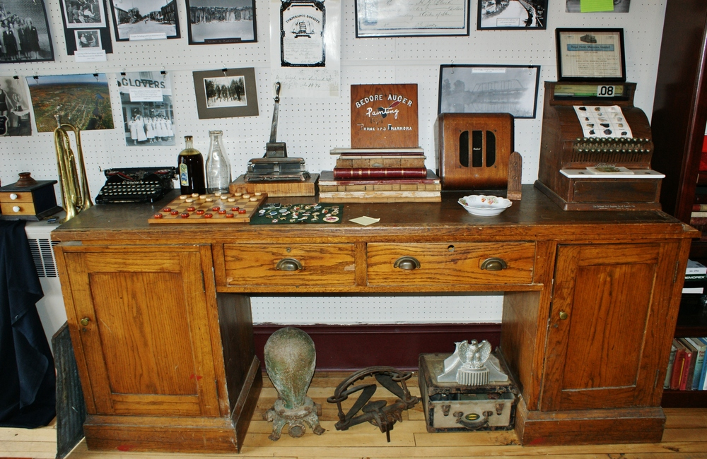 The Old post office desk now at the Marmora Historical Foundation