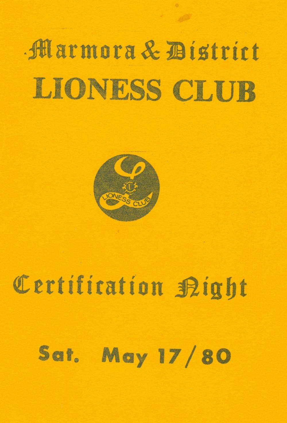 Lioness Club Certification 1980.jpg