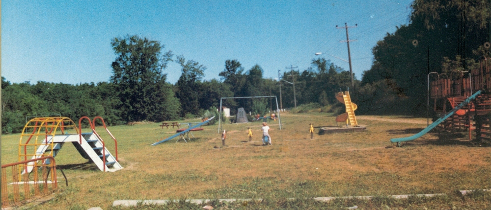 Playground equipment donated 1982 by Lioness Club