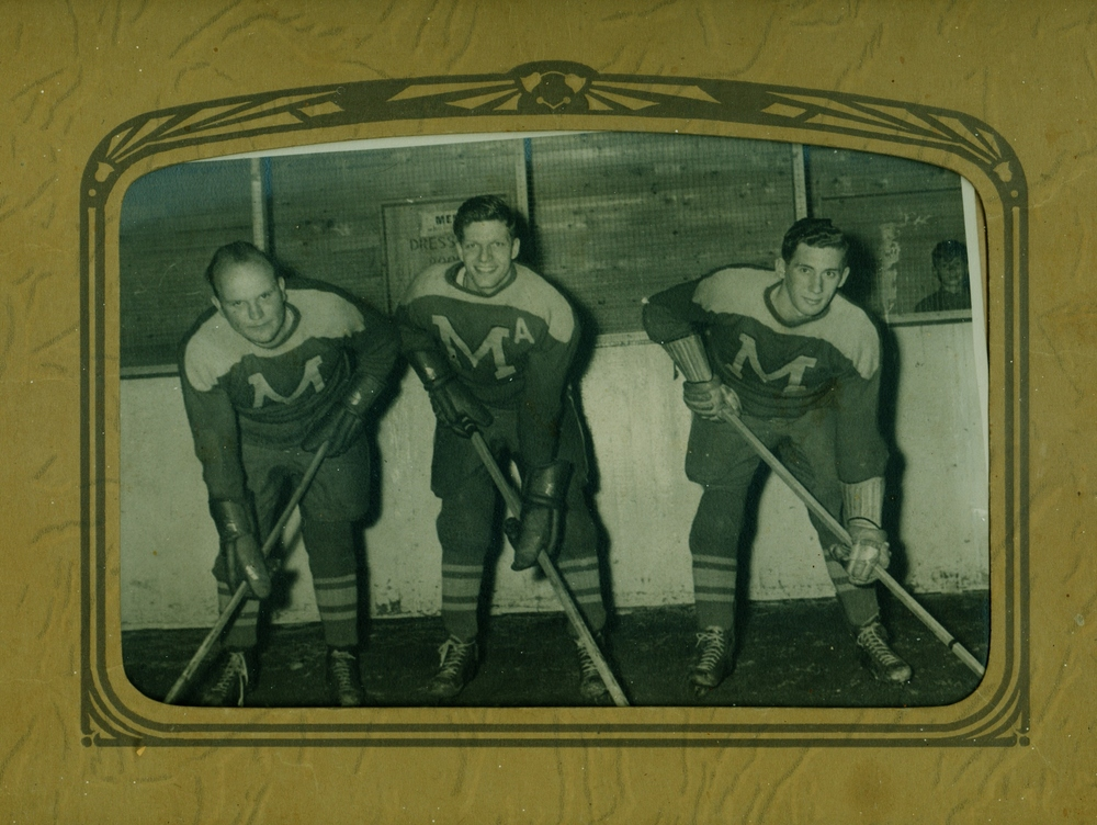 Men's Hockey,  Dean Lavender, Tom Cousins, Stub (Ken)  Trumble