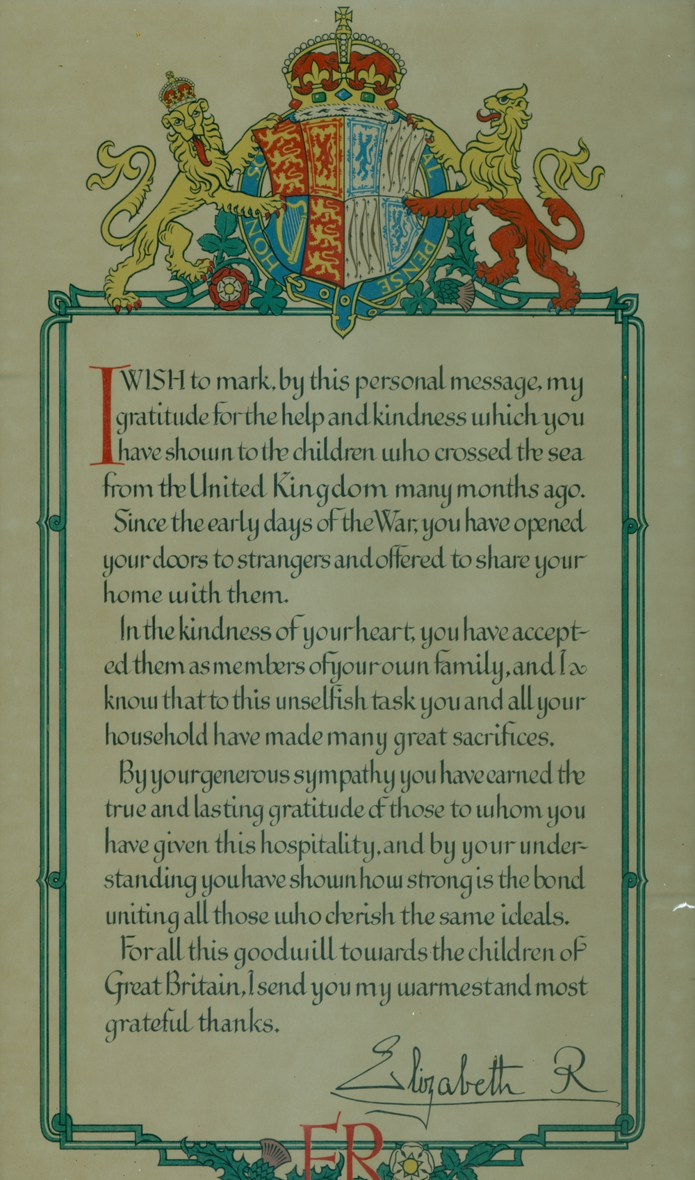 Letter of thanks from Queen Elizabeth II.jpg